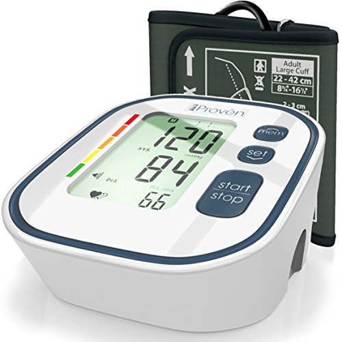 Best, Fast, Accurate Blood Pressure Monitor for Painless Reading BPM-634WG, Large Screen Upper Arm Cuff Easy Home use - Top Rated BP Monitors FDA Approved Digital Electronic Machine Cuffs by iProvèn