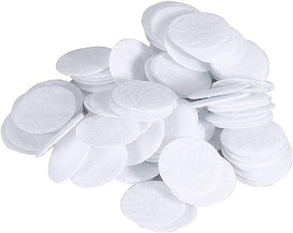Microdermoabrasión Filtros De Algodón - 4 Tamaños Filtros De Vacío Facial, Almohadillas De Filtrado Redondas Reemplazo Del Filtro De Esponja (100 Piezas) (tamaño: 20mm): Amazon.es: Belleza