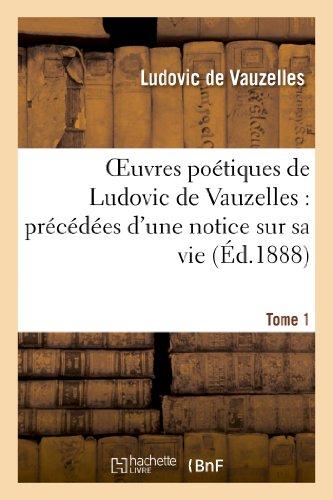 Oeuvres Poetiques Tome 1 [Pdf/ePub] eBook