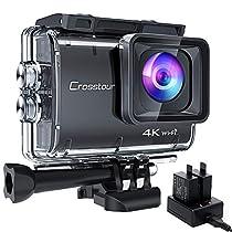 【進化版4K/50FPS】Crosstourアクションカメラ 4K 20MP解像度 「...