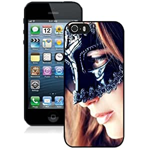 New Personalized Custom Designed For iPhone 5s Phone Case For Blonde Girl with Black Mask Phone Case Cover