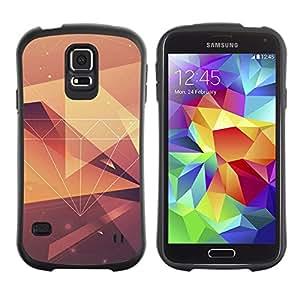 Suave TPU Caso Carcasa de Caucho Funda para Samsung Galaxy S5 SM-G900 / diamond vignette yellow pattern polygon / STRONG