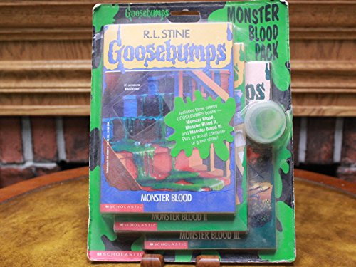 The Goosebumps Monster Blood Pack: The Curse of the Mummy's Tomb, Monster Blood, and Stay Out of the Basement (Includes a Container of Green -