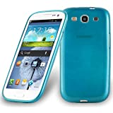 Cadorabo - Silicone TPU Case for Samsung Galaxy S3 (I9300) Design Brushed STAINLESS-STEEL-LOOK – Etui Cover Protection Bumper Skin in TURQUOISE