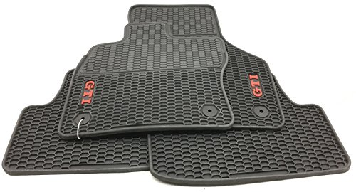 Gti Floor (2015 VW Volkswagen GTI MK7 ORIGINAL Monster Mats All Season Rubber Set Of 4 GENUINE OEM)