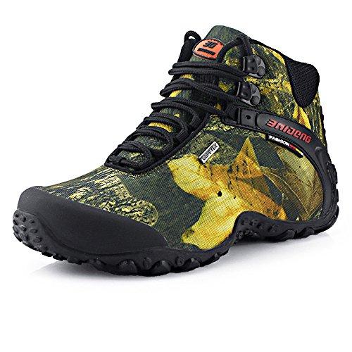 測定デコードするベアリングWARRIOR Men's Hiking boots メンズ ハイキングシューズ トレッキングシューズ ウォーキング 防滑 登山靴