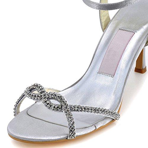 7 tendance de Heel Chaussures blanc Minitoo 5cm White femme mariage tw05Hxaq