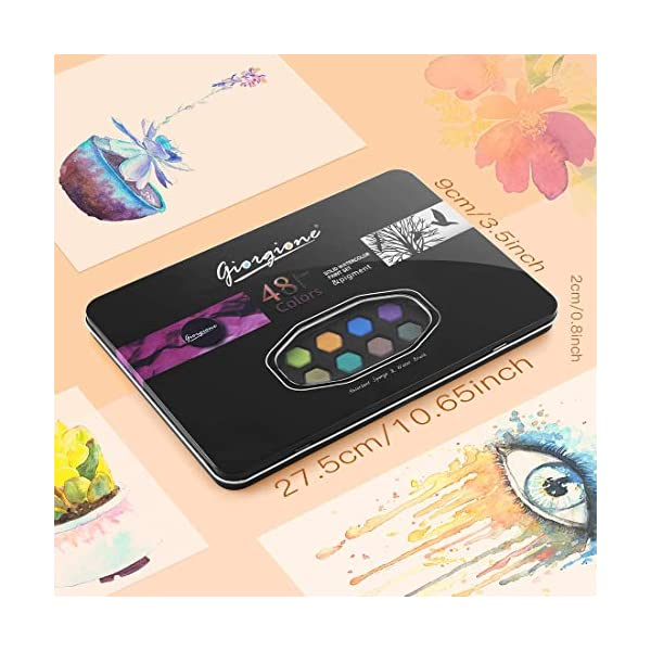 48-Watercolor-Paints-Set-AGPTEK-Watercolor-Professional-Paint-in-Tin-Box-Easy-Mixed-and-Fast-Dried-Portable-Painting-Set-for-Beginners-Artists-and-Kids