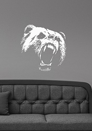 Bear Removable Wall Sticker Vinyl Decal Wildlife Animal Decorations for Home Kids Living Room Bedroom Office Decor br5 ()