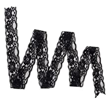 5 Yards Stretch Flower Lace DIY Trims Clothes Sewing Craft DIY Dress Black