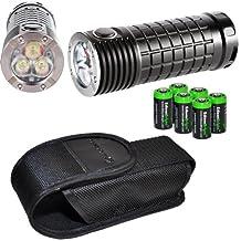 Olight SR MINI Intimidator 2800 Lumen Cree XM-L2 LED diffused Flashlight with six EdisonBright CR123A lithium batteries