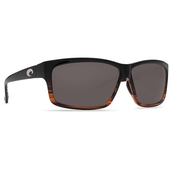 New Costa Del Mar-UT 52 OGP-Cut-Coconut Fade-Gray 580P Plastic Lense Sunglasses