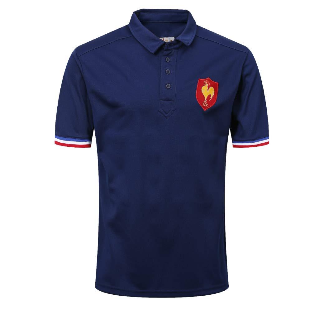 CRBsports Equipo De Francia, Polo De Rugby, Camiseta, Nuevo Tejido ...