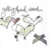 Tracey Russell Getting Married Abroad Wedding Day Embellished Card By Cards
