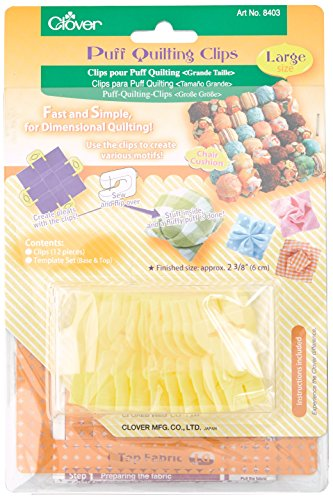 Clover Puff Quilting Clips, Large
