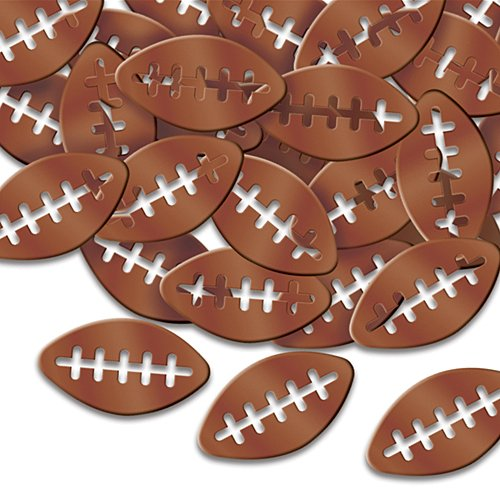 Football Banquet Table Decorations - Fanci-Fetti Footballs (brown) Party Accessory