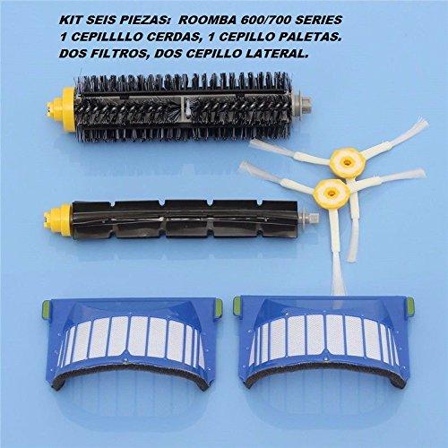 Irobot Repuesto Kit De Filtros, Cepillos Para Roomba Serie 6