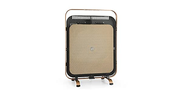 Klarstein HeatPal Marble Blackline radiador infrarrojo • Radiador portátil • Radiador Vertical • 1300 W • para Salas de 30 m² • Función para conservar el ...