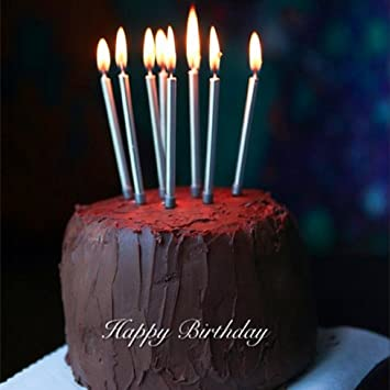 Amazon Astra Gourmet 12 Count Long Metallic Birthday Candles In