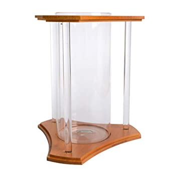 LSHUAIDJ Acuario Goldfish Bowl Betta pecera Acuario Creativo bambú ecológico pecera pequeña pecera pecera: Amazon.es: Hogar