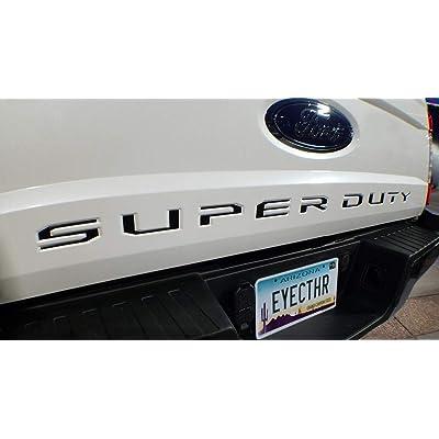 EyeCatcher Tailgate Insert Letters fits 2020-2020 Ford Super Duty (Black): Automotive
