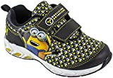 Despicable Me Boys Minion Two-Strap Kid's Sneaker Athletic Shoe, Black, Size 9 Child US Toddler