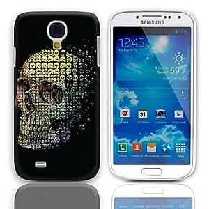 GDW Skulls Pattern Caso duro con Paquete de 3 protectores de pantalla para Samsung Galaxy S4 Mini I9190