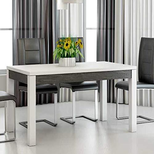 M-114 Table à Manger 190 cm Design Blanc laqué LAUREA ...