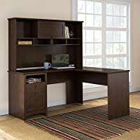 Buena Vista L Shaped Desk with Hutch in Madison Cherry