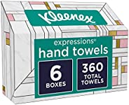 Kleenex Expressions Hand Towels, Single-Use Disposable Paper Towels, 6 Boxes, 60 Towels Per Box (360 Towels To