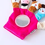 Royarebar Women's Accessories Cosmetic Mirror Kids Infant Lovely Rolling Hand Grasp Plush Toy Colorful Safety Mirror Gift