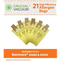 27 Replacements for Kenmore 50688 Paper Bags, Compatible With Part # 20-5068, 20-50681, 20-50688, 20-50690 & U-2, by Think Crucial
