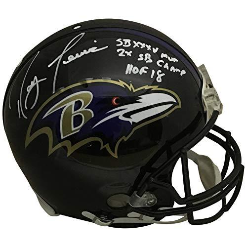 Ray Lewis Autographed Baltimore Ravens Full Size Authentic Proline Super Bowl MVP HOF Helmet Beckett BAS COA ()