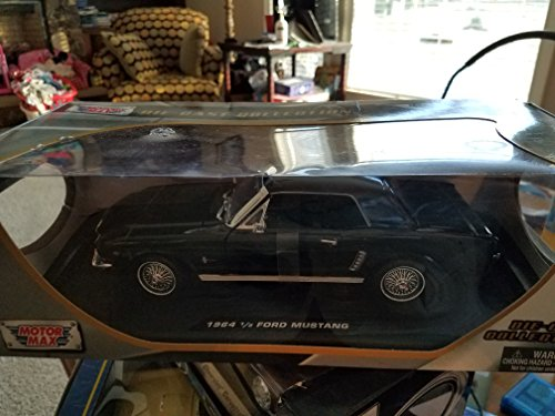 Motor max 1964 1/2 ford Mustang coupe black diecast 1/18