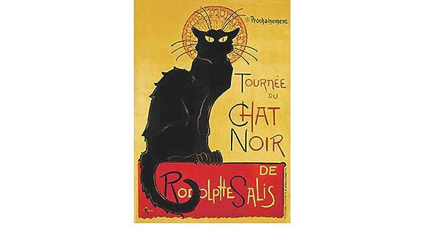digital poster The Black Cat instantly downloadable Le Chat Noir a nineteenth-century entertainment establishment wall art decoration