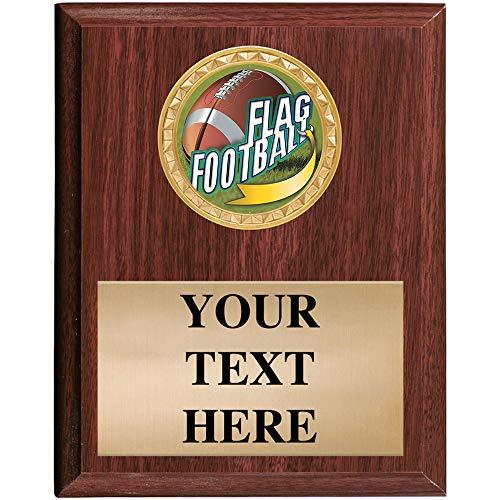 5x7 Custom Wood Finish Flag Football Awards - Flag Football