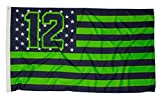 Show your passion with this premium fan favorite 12 flag. Large 3 by 5 feet. Canvas header with metal grommets.