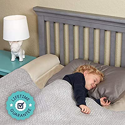 hiccapop Inflatable Bed Rail for Toddlers | Travel Bed Rail, Blow-up Bed Bumper with Non-Skid Water-Resistant, Non-Slip Removable Cover | Portable Bed Rail for Hotel, Grandma's, Vacation