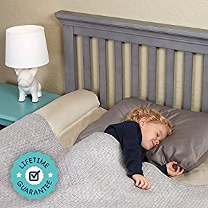 [2-Pack] hiccapop Inflatable Bed Rail for Toddlers | Travel...
