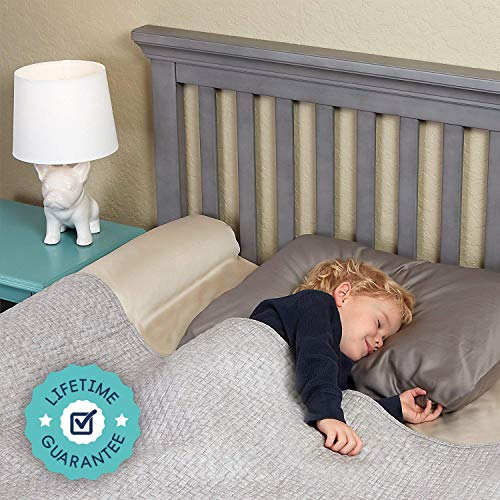 Inflatable Bed Bumpers for Toddlers | Travel Bed Rail, Blow-up Bed Bumper with Non-Skid Water-Resistant, Non-Slip Removable Cover | Portable Bed Rail for Hotel, Grandma's, Vacation