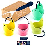 Silicone Egg Poacher Cups + Free Fork + Bonus eBook - Egg Cooker Set - Perfect Poached Egg Maker - For Stove Top, Microwave and Instant Pot