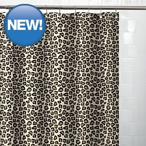 Image Unavailable Not Available For Colour Beautiful Leopard Printed Shower Curtain