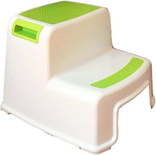 Mal Taburetes Safety 1st Double Step Stool, Taburete de plástico para niños reposapiés baño Escalera Antideslizante escalón escalón Taburete escalón 6 Color Opcional (Color : Green): Amazon.es: Hogar