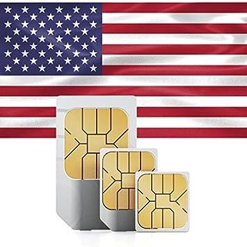 Tarjeta SIM Prepago de Estados Unidos + 750MB para 30 días en at & T Red: Amazon.es: Electrónica