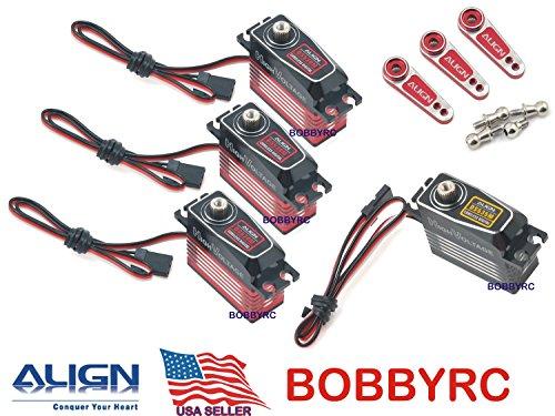 (Bobbyrc Align Trex 500XT 500L PRO DFC Cyclic/Tail DS530M & DS535M HV Digital Servos)