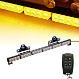 "V-SEK 24 LED 27"" Hazard Emergency Warning Tow Traffic Advisor Flash Strobe Directional Light Bar With Wireless Remote Control (Yellow/Amber)"