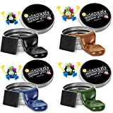 ILC Magnetic Putty Playdough Creative Magnet Toy Slime Stress Reliever for Kids and Adults for Fun (4 Pack)