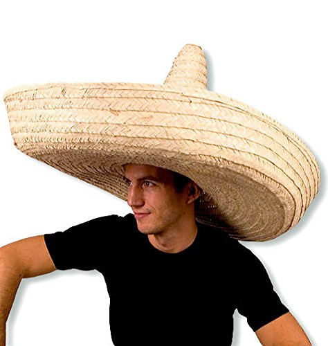 3aefdbfc19f73 ... Giant Jumbo Sombrero Hat Zapata Straw Spanish Mexican Adult Costume  Accessory ...