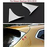 New 2pcs Chrome Rear Window Lid Decorative Trim For Nissan Qashqai 2014 2015 2016 2017 2018