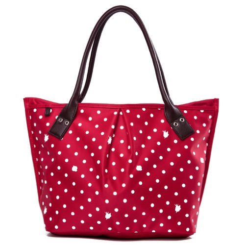 Big Red Yq Handbags Print Women's Capacity Tote Ladies Dots Sweet x1zznvTR